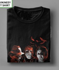 Super Villains Friday T Shirts The 13th Horror T Shirt Jason Voorhees Michael Myers T Shirt 14