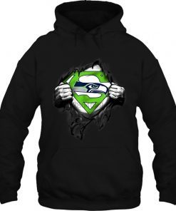 Superhero Football Seattle Seahawk Inside Me Women Streetwear men women Hoodies Sweatshirts