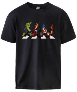 Superhero T shirts The Avengers Mens Summer Tops Fashion Short Sleeve Casual Sportswear Cool Spiderman Print