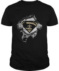 Superman New Orlean Saints Inside Me Shirt Funny Black Vintage Gift Men Women