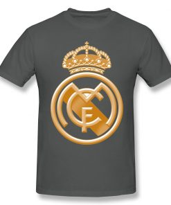 T Shirts Men Golden Real Madrided Crest T shirt High Quality Tee Father Day Tops 100 2