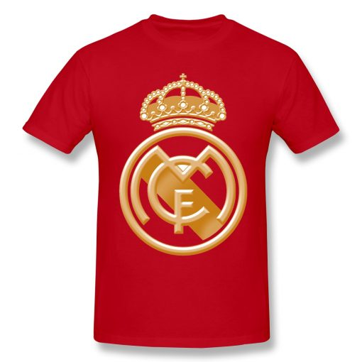 T Shirts Men Golden Real Madrided Crest T shirt High Quality Tee Father Day Tops 100 4