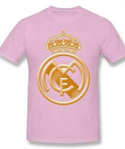 T Shirts Men Golden Real Madrided Crest T shirt High Quality Tee Father Day Tops 100 5