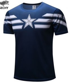TUNSECHY 2019 Captain America T Shirt 3D Printed T shirts Men Marvel Avengers iron man War