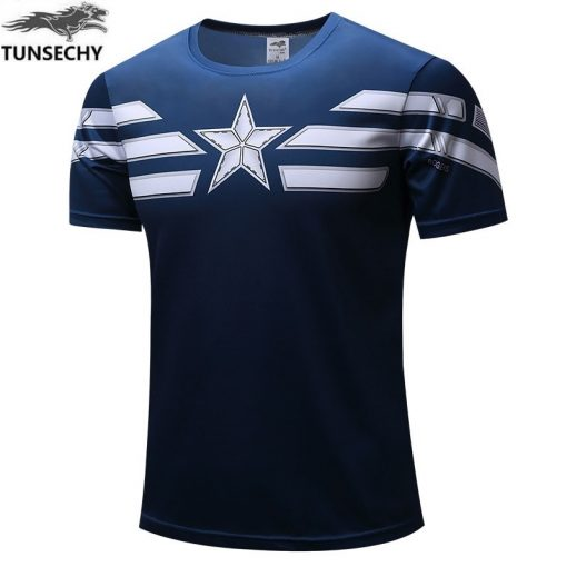 TUNSECHY 2019 Captain America T Shirt 3D Printed T shirts Men Marvel Avengers iron man War