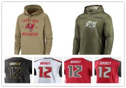 Tampa Bay American football Sweatshirt Buccaneers 12 Tom Salute to Service Sideline Therma Performance Pullover Brady