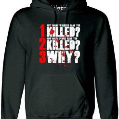 The 3 Questions Hoodie Inspired by Walking Dead TV Zombie Walkers Rick Grimes men long sleeve