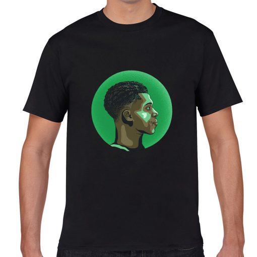 The Alphab Giannis Antetokounmpo Cartoon Basketball Fans Wear Mens Classic T shirt Normal Basketball Sweatshirts Tee 5