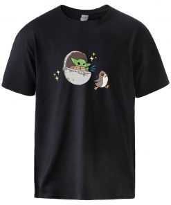 The Mandalorian Baby Yoda T shirts Summer Tops for Man Hot Sell Star Wars T shirts