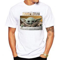 The Mandalorian Boba Fett and child baby Yoda friends funny t shirt men 2019 summer new 1