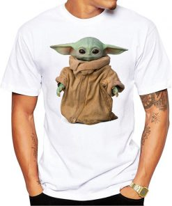 The Mandalorian Boba Fett and child baby Yoda friends funny t shirt men 2019 summer new 2
