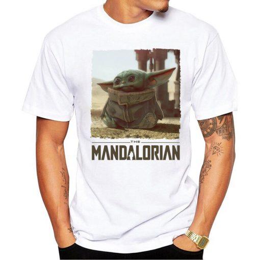 The Mandalorian Boba Fett and child baby Yoda friends funny t shirt men 2019 summer new 4
