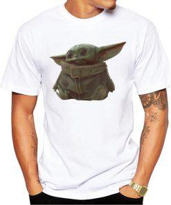 The Mandalorian Boba Fett and child baby Yoda friends funny t shirt men 2019 summer new 5