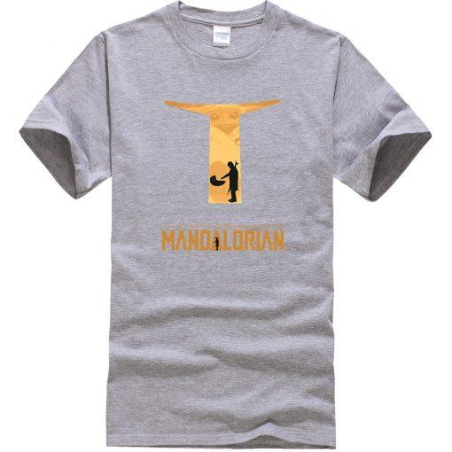 The Mandalorian Hip Hop Men T Shirts Casual Star Wars Tops New Summer 2020 Cotton Baby 1
