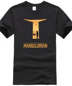 The Mandalorian Hip Hop Men T Shirts Casual Star Wars Tops New Summer 2020 Cotton Baby 2