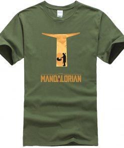 The Mandalorian Hip Hop Men T Shirts Casual Star Wars Tops New Summer 2020 Cotton Baby 3