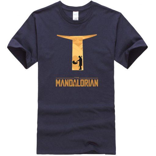 The Mandalorian Hip Hop Men T Shirts Casual Star Wars Tops New Summer 2020 Cotton Baby