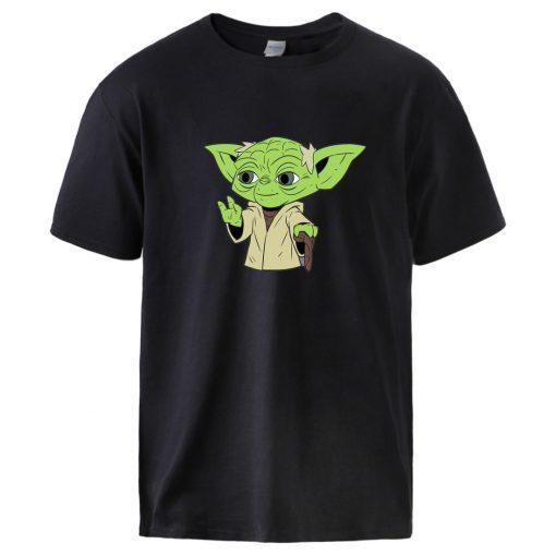 The Mandalorian T shirts Mens Star Wars Baby Yoda Print Tops Summer Short Sleeve Cotton T