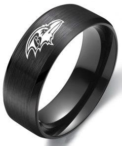 The National Football LeagueTM NFL Baltimore RavensTM Team Logo Titanium Steel Ring Fashion for Fans Metal 2