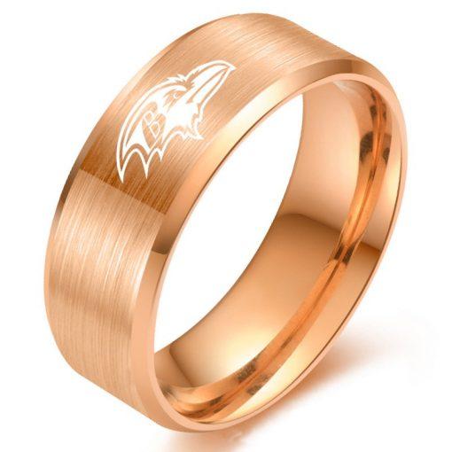 The National Football LeagueTM NFL Baltimore RavensTM Team Logo Titanium Steel Ring Fashion for Fans Metal 4