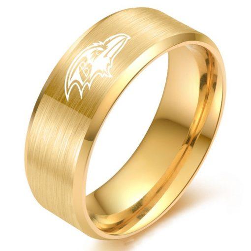The National Football LeagueTM NFL Baltimore RavensTM Team Logo Titanium Steel Ring Fashion for Fans Metal