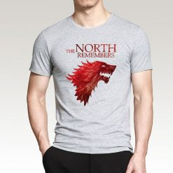 The North Remembers Game Of Thrones House Stark Men s T Shirts 2019 Summer Hot Sale 1