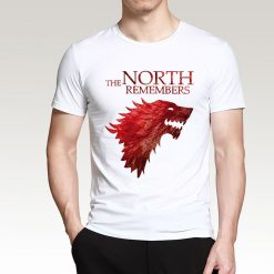The North Remembers Game Of Thrones House Stark Men s T Shirts 2019 Summer Hot Sale 2