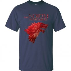 The North Remembers Game Of Thrones House Stark Men s T Shirts 2019 Summer Hot Sale 3