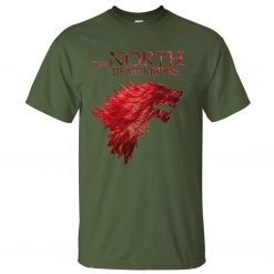 The North Remembers Game Of Thrones House Stark Men s T Shirts 2019 Summer Hot Sale 4