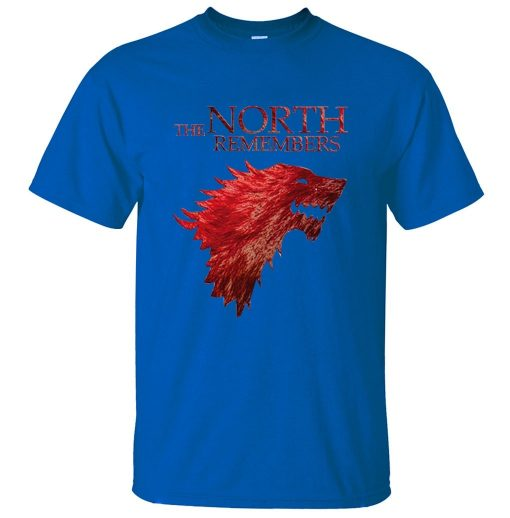 The North Remembers Game Of Thrones House Stark Men s T Shirts 2019 Summer Hot Sale 5