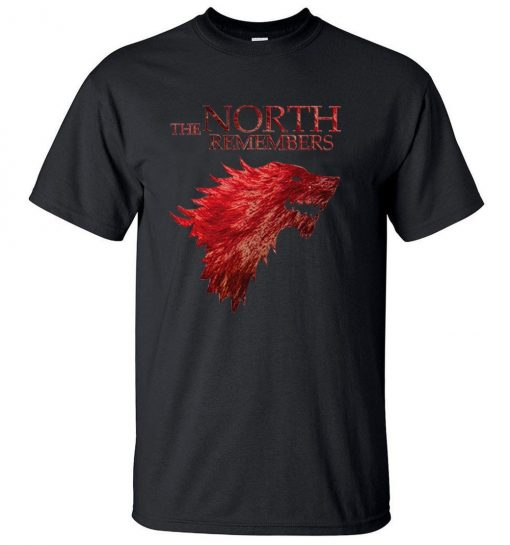 The North Remembers Game Of Thrones House Stark Men s T Shirts 2019 Summer Hot Sale