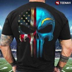 The Punisher Skull Los Angeles Chargers T Shirt 4