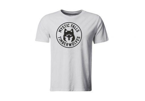 The Vampire Diaries inspired Grey T Shirt Mystic Falls New Timberwolves Round Neck Teenage Pop Top