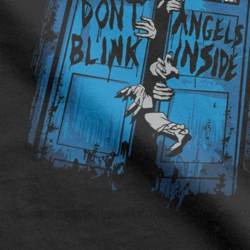 The Walking Angels Dead T Shirt Men Doctor Who Zombies Dont Blink Unique Tops Short Sleeve 2