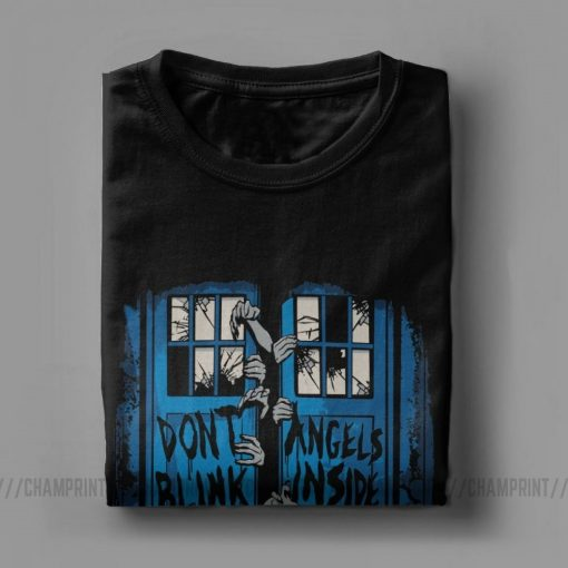The Walking Angels Dead T Shirt Men Doctor Who Zombies Dont Blink Unique Tops Short Sleeve 3