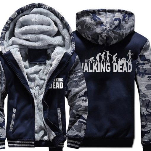 The Walking Dead Cool Men Hoodies 2018 New Arrival Autumn Winter Warm Fleece High Quality Sweatshirt 5