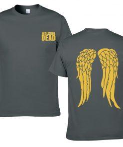 The Walking Dead Cotton Men T Shirts Hip Hop Fashion cool T Shirts Men Loose creative 5