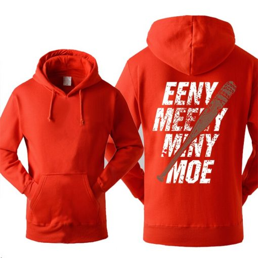 The Walking Dead Hoodie Men Eeny Meeny Miny Moe Negan Lucille Hoodies Men 2018 New Autumn 1