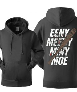 The Walking Dead Hoodie Men Eeny Meeny Miny Moe Negan Lucille Hoodies Men 2018 New Autumn