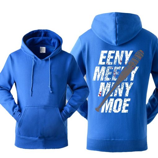 The Walking Dead Hoodie Men Eeny Meeny Miny Moe Negan Lucille Hoodies Men 2018 New Autumn 3