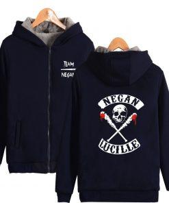 The Walking Dead Hoodie Negan Hoodies Skull Lucille Hoody Hot Tv Print Sweatshirts Men Women Hooded 2