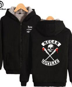The Walking Dead Hoodie Negan Hoodies Skull Lucille Hoody Hot Tv Print Sweatshirts Men Women Hooded