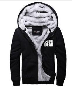The Walking Dead Hoodie Zombie Daryl Dixon Wings Warm Winter Fleece Zip Up Clothing Coat Sweatshirts 1