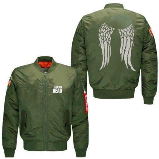 The Walking Dead Hoodie Zombie Daryl Dixon Wings spring autumn men s jacket collar code Air 1