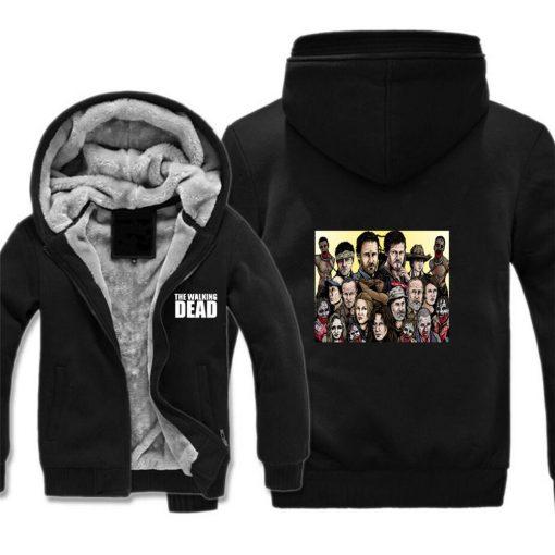 The Walking Dead Jackets cosplay Print Streetwear Thicken Coat Fleece Brand Clothing Tracksuits Hoodies 1