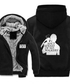 The Walking Dead Jackets cosplay Print Streetwear Thicken Coat Fleece Brand Clothing Tracksuits Hoodies 2
