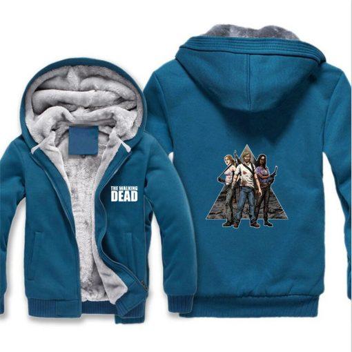 The Walking Dead Jackets cosplay Print Streetwear Thicken Coat Fleece Brand Clothing Tracksuits Hoodies 3