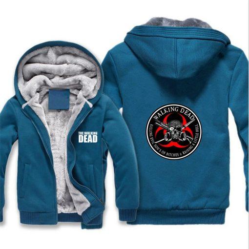 The Walking Dead Jackets cosplay Print Streetwear Thicken Coat Fleece Brand Clothing Tracksuits Hoodies 5