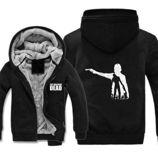 The Walking Dead Jackets cosplay Print Streetwear Thicken Coat Fleece Brand Clothing Tracksuits Hoodies
