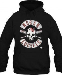 The Walking Dead Men s Negan Lucille Crossed Bats Streetwear men women Hoodies Sweatshirts